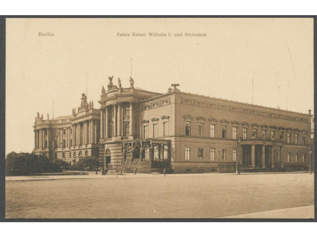 Germany, Berlin, Kaiser Wilhelm palace with library, publ. Saalfeld, cca 1906