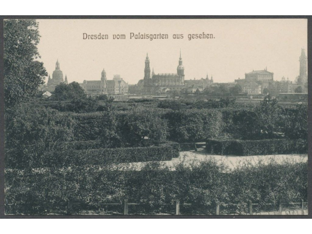 Germany, Dresden, overview from palace gardens, publ. Köhler, cca 1908