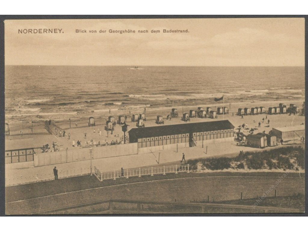 Germany, Lower Saxony, Norderney, view at a sea, publ. Glaser, cca 1908