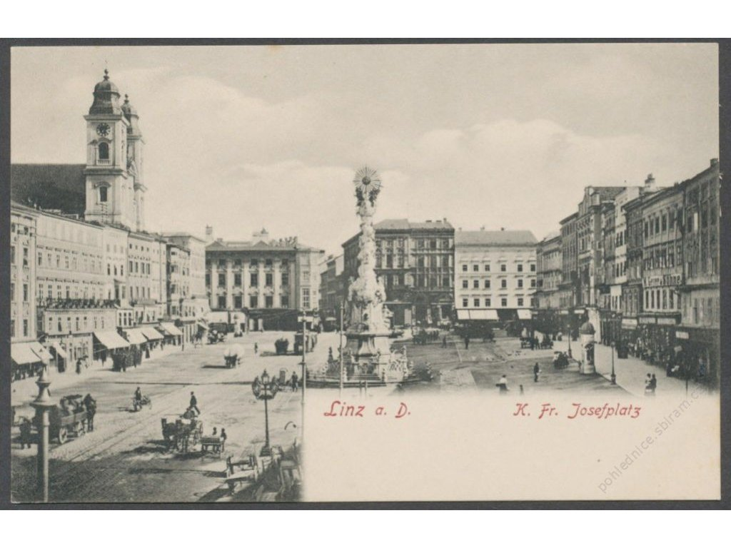 Austria, Upper Austria, Linz, K. Fr. Josef square, publ. Schleich, cca 1908