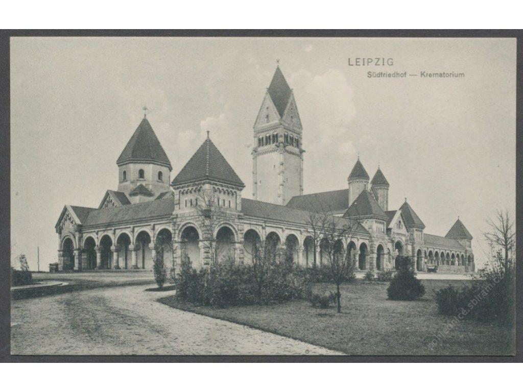 Germany, Leipzig, Südfriedhof - crematorium, publ. Trinks & Co., cca 1908