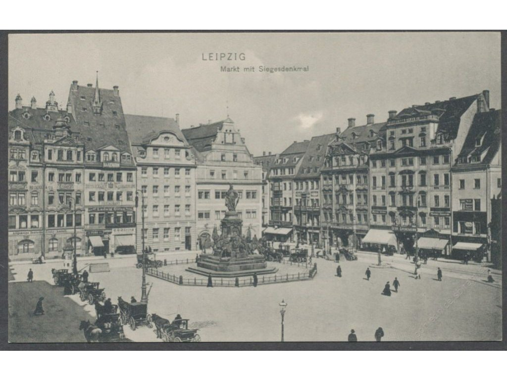 Germany, Leipzig, square with Victory monument, publ. Trinks & Co., cca 1906
