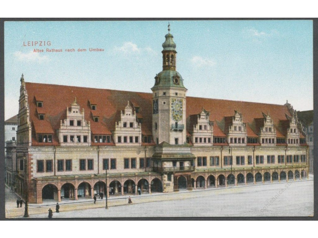 Germany, Leipzig, Old city hall after reconstruction, publ. Trinks & Co., cca 1906