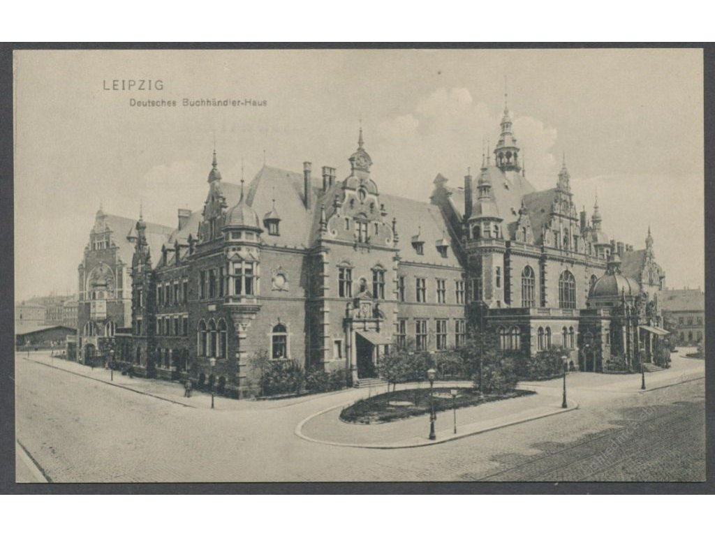 Germany, Saxony, Leipzig, bookseller house, publ. Trinks & Co., cca 1906