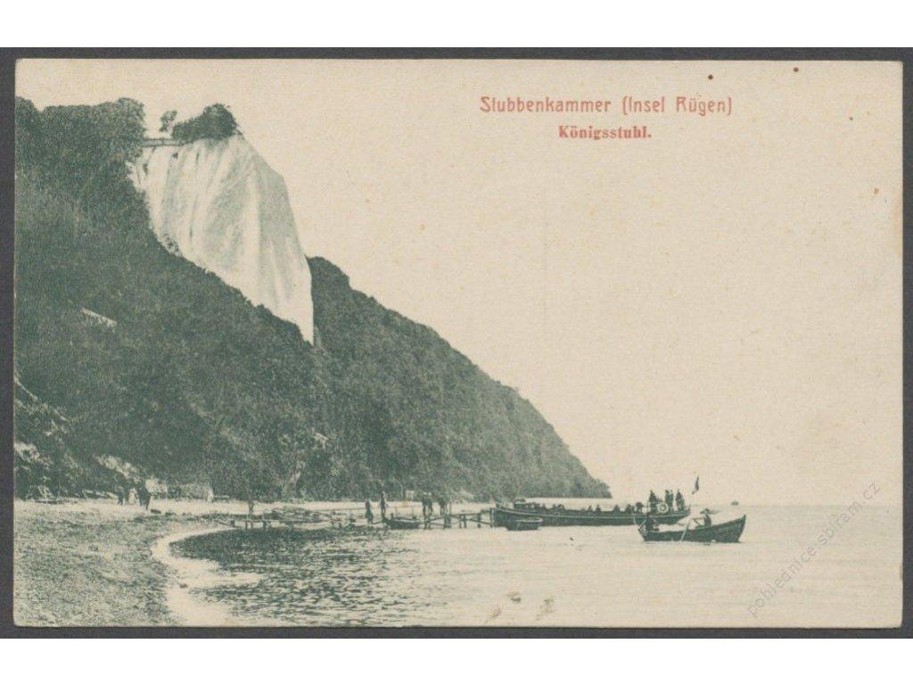 Germany, Rügen island, Jasmund National Park, King&apos!s chair (Königsstuhl), cca 1907