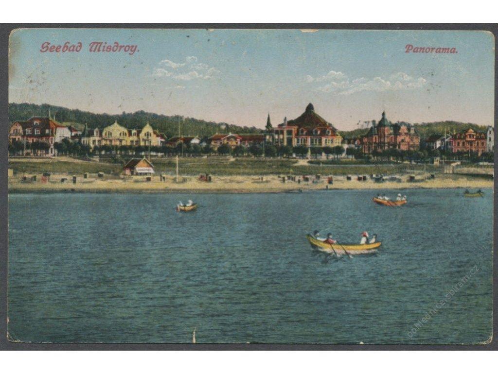 Poland, Baltic, Wolin, Międzyzdroje, panorama, publ. Weil, cca 1923