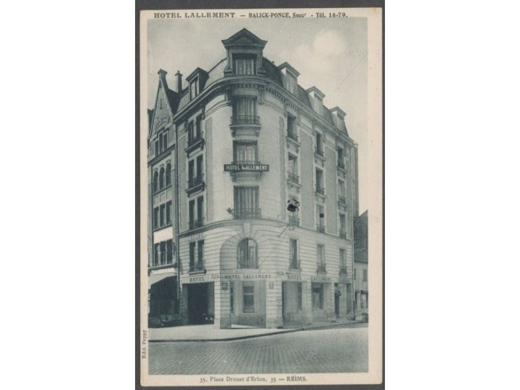 France, Champagne-Ardenne, Reims, hotel Lallement, cca 1925