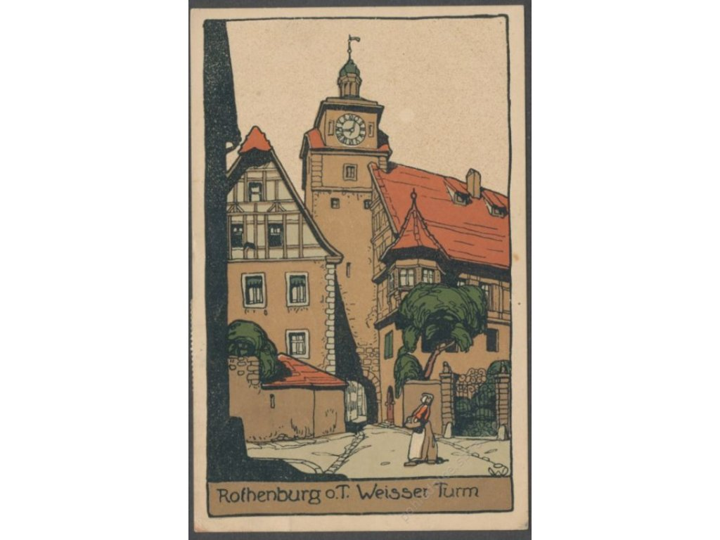 Germany, Ansbach, Rothenburg ob der Tauber, White Tower, publ. Stein & Co., cca 1911