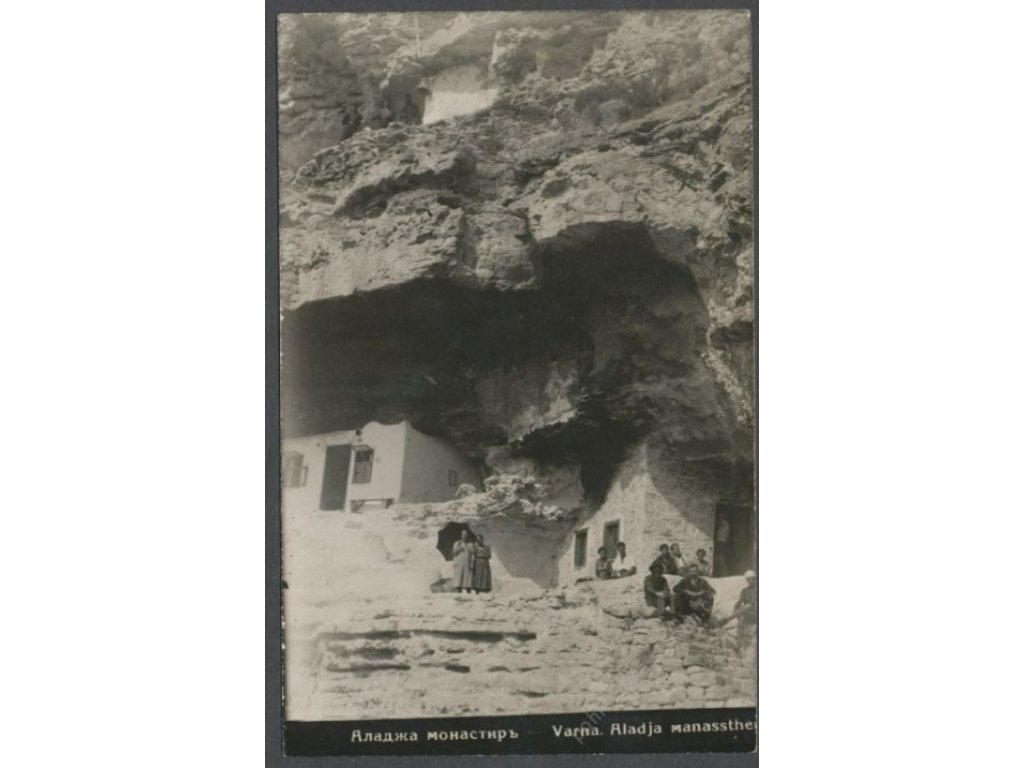 Bulgaria, Varna, cave homes with people, cca 1930