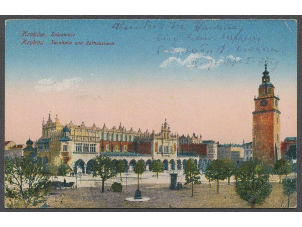 Poland, Kraków, Renaissance Cloth Hall (Sukiennice), cca 1917