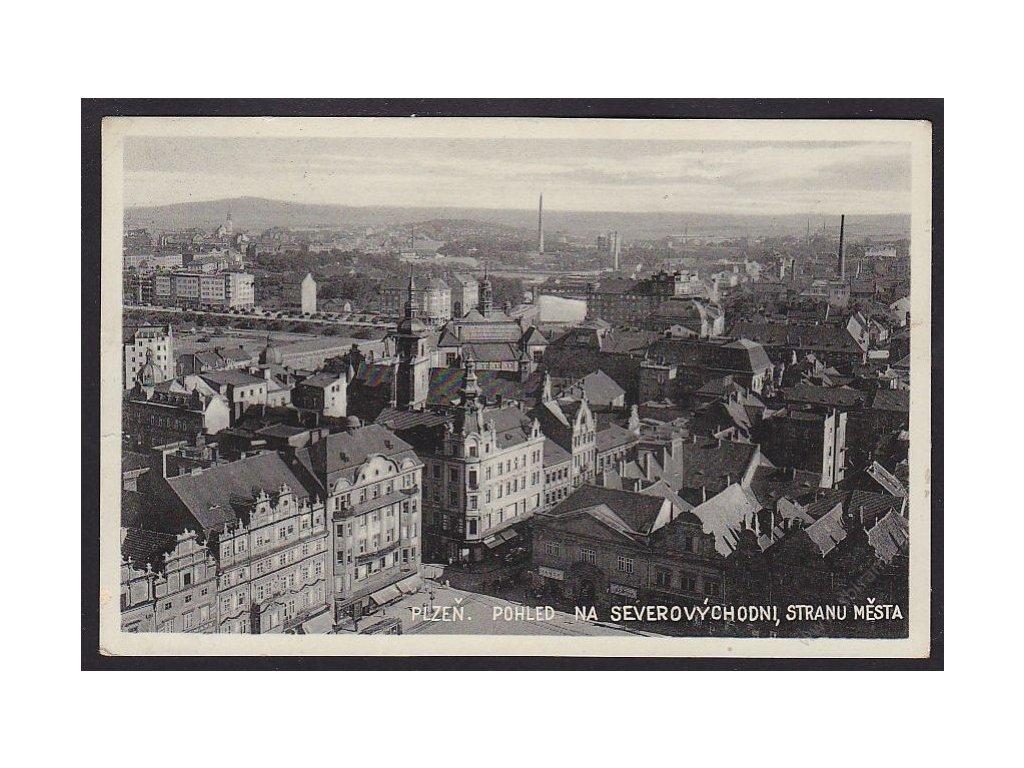 47 - Plzeň, pohled na severovýchodní stranu města, cca 1933