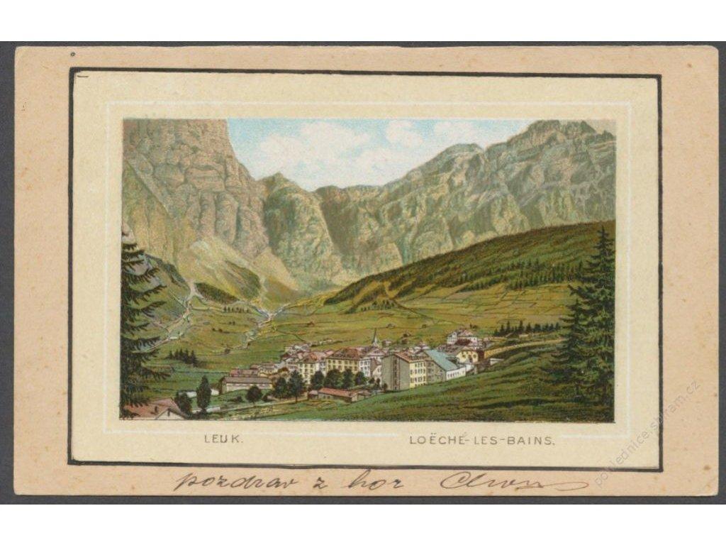 Switzerland, Valais, Leuk, Loeche baths, cca 1898