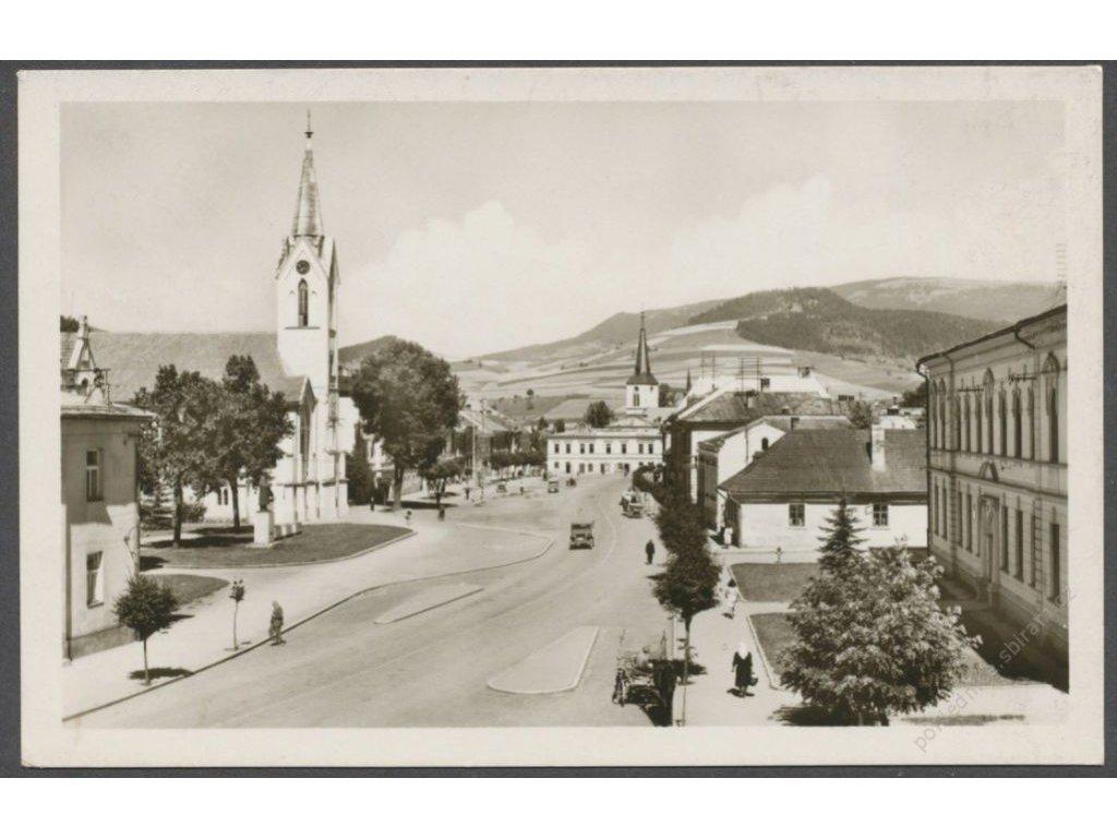 Slovensko, Dolný Kubín, uvnitř města, nakl. Tatran, cca 1950