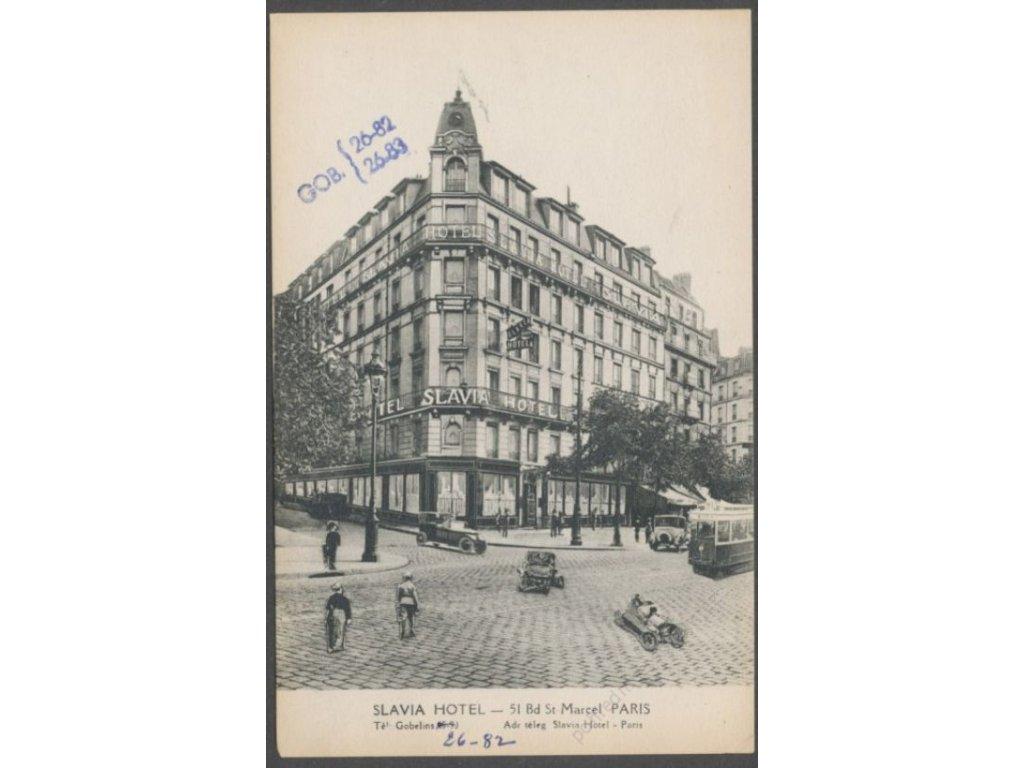 France, Paris, hotel Slavia, cca 1915