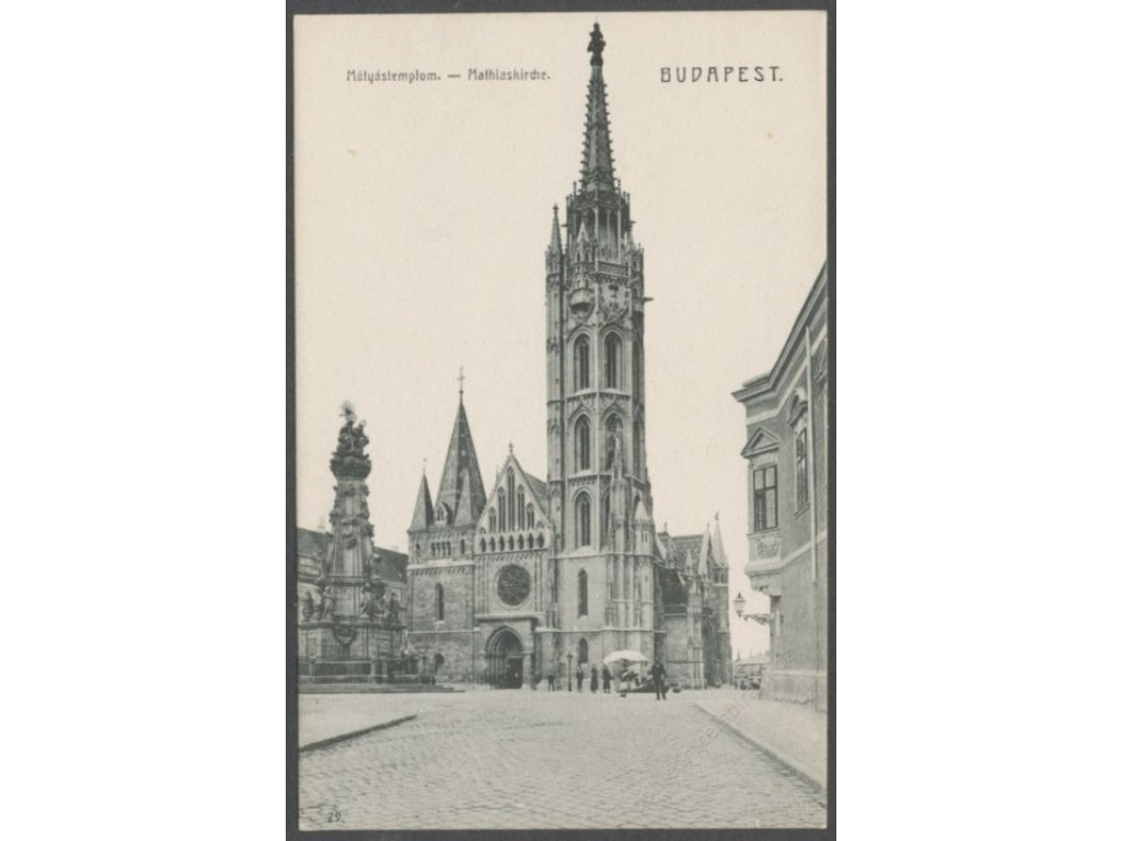 Hungary, Budapest, Matthias Church, cca 1908