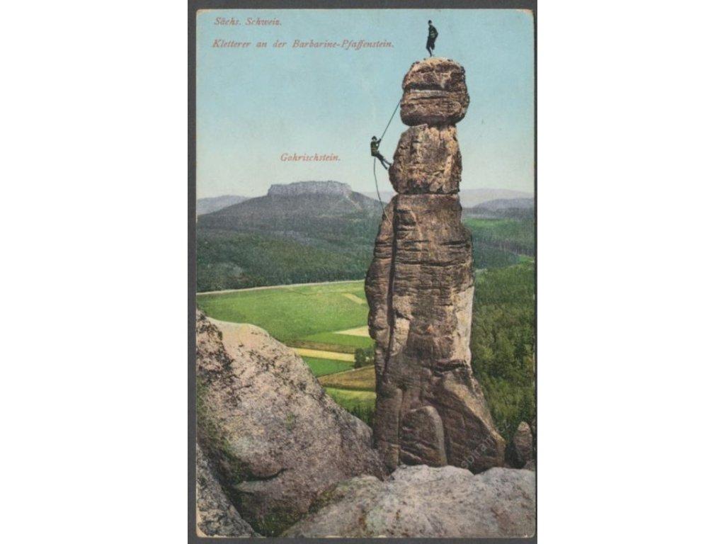 Germany, Elbe Sandstone Mountains, Barbarine on the Pfaffenstein, publ. Tüngenthal, cca 1915