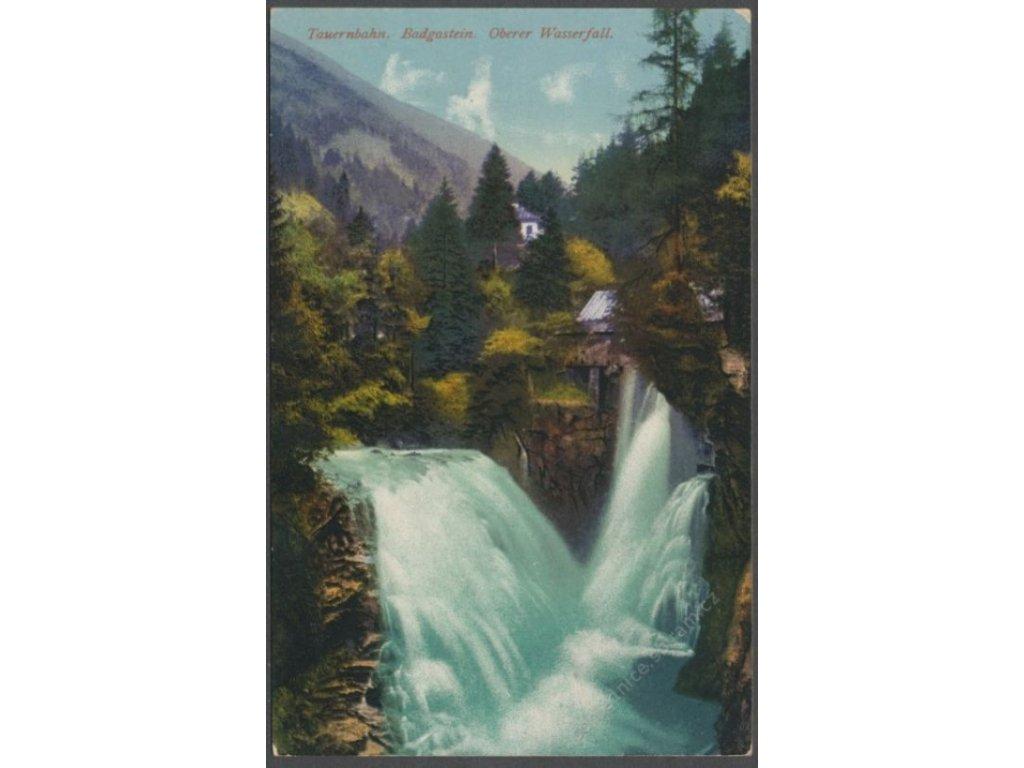 Austria, Salzburg, Bad Gastein, upper waterfall, publ. Purger & Co., cca 1915