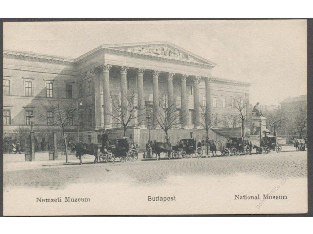Hungary, Budapest, National Muzeum, cca 1908