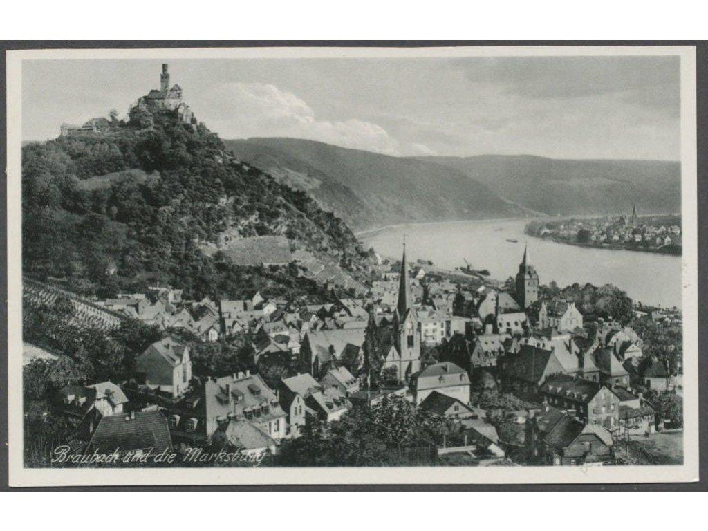 Germany, Rhein-Lahn-Kreis, Braubach and Marksburg, publ. Hoursch & Bechstedt, cca 1930