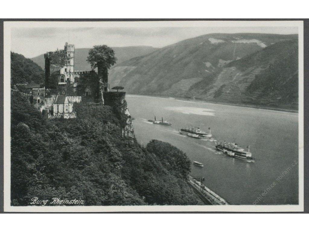 Germany, Trechtingshausen, Burg Rheinstein, publ. Hoursch & Bechstedt, cca 1935