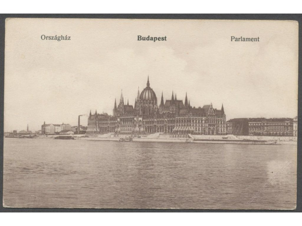 Hungary, Budapest, Parlament, cca 1919