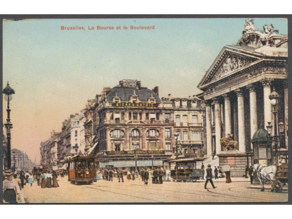 Belgium, Brussels, boulevard, publ. Guggenheim & Co., cca 1915