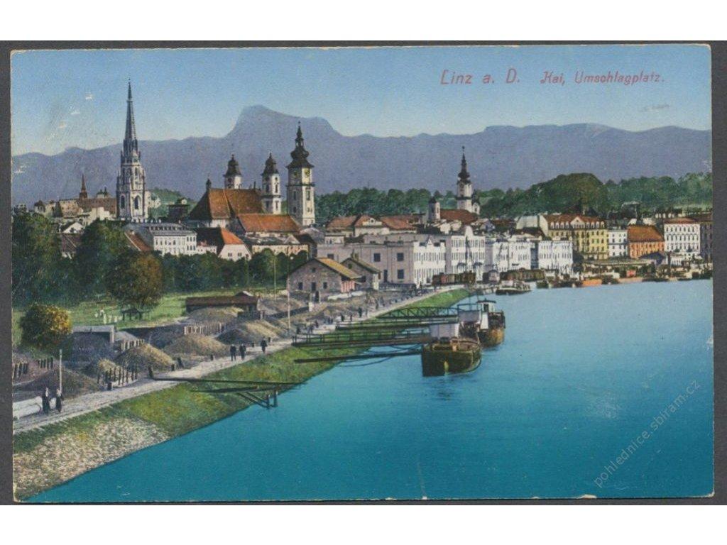 Austria, Upper Austria, Linz, quay, platform handling, cca 1910