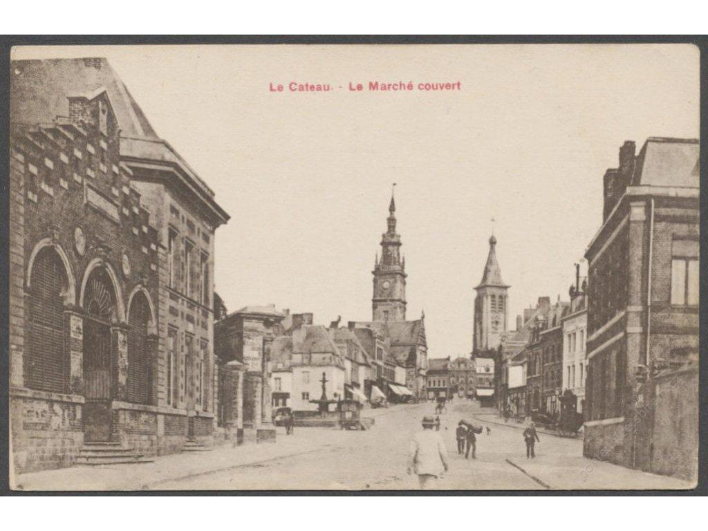 France, Paris, Le Cateau, market, publ. Brager, cca 1920
