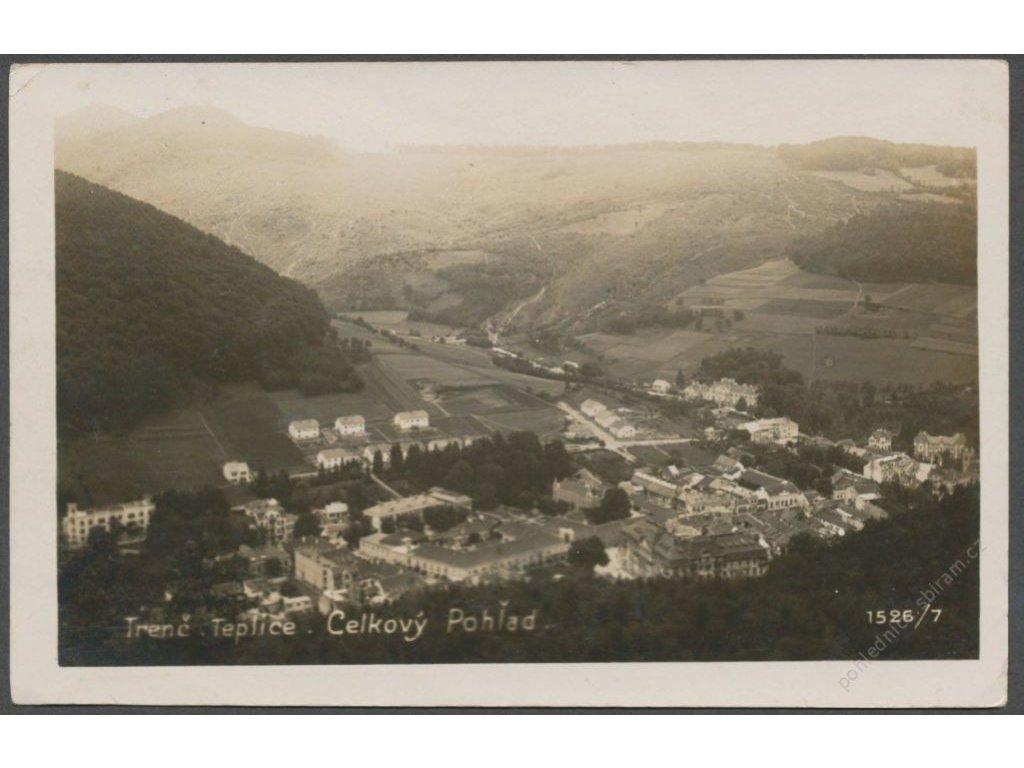 Slovensko, Trenčianske Teplice, celkový pohled, cca 1930
