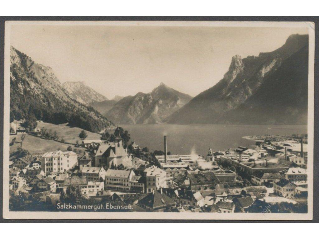 Austria, Salzkammergut, Ebensee, publ. Brandt, cca 1928
