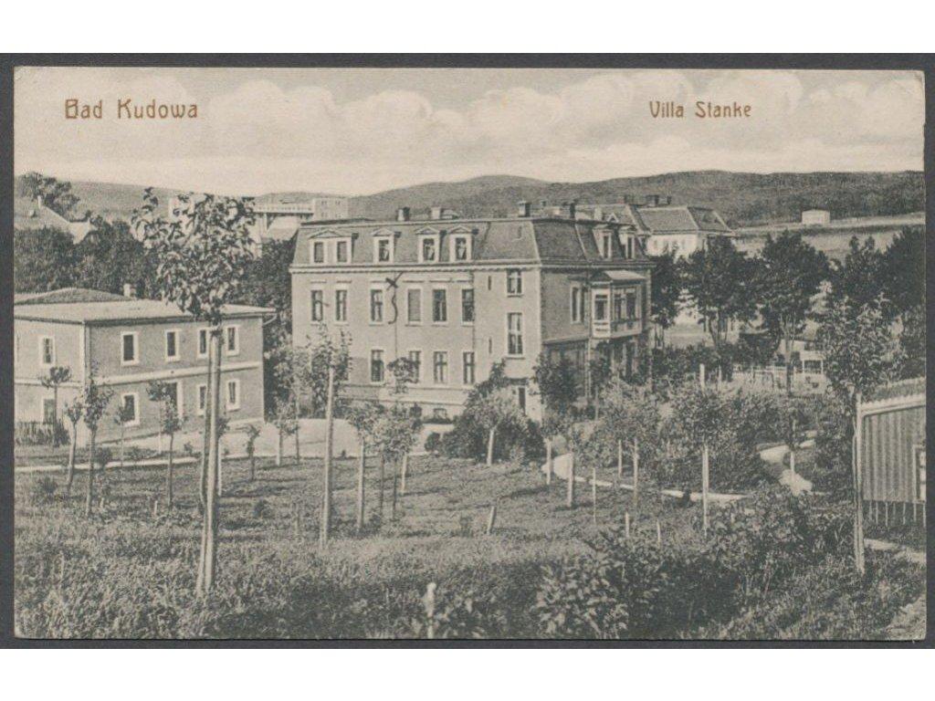 Poland, Stołowe Mountains, Kudowa-Zdrój, villa Stanke, publ. Giebel, cca 1922
