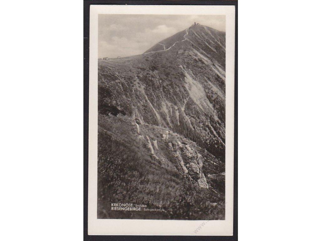 66 - Trutnovsko, Krkonoše, Sněžka, foto Fon, cca 1935
