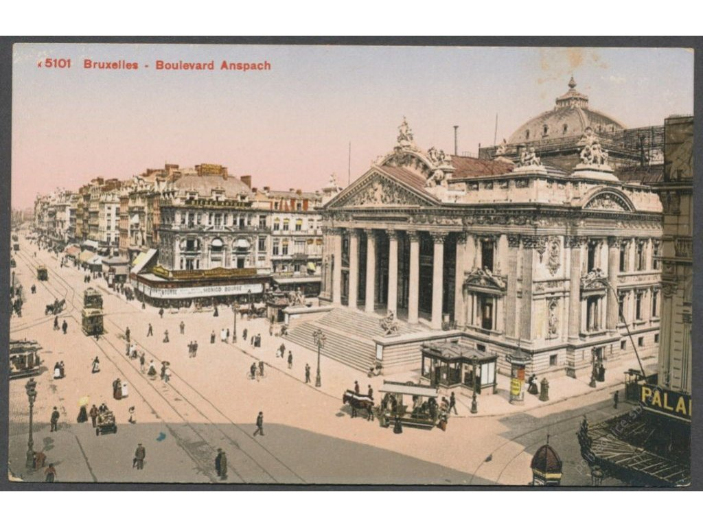 Belgium, Brussels, Boulevard Anspach, publ. Photoblob, cca 1908
