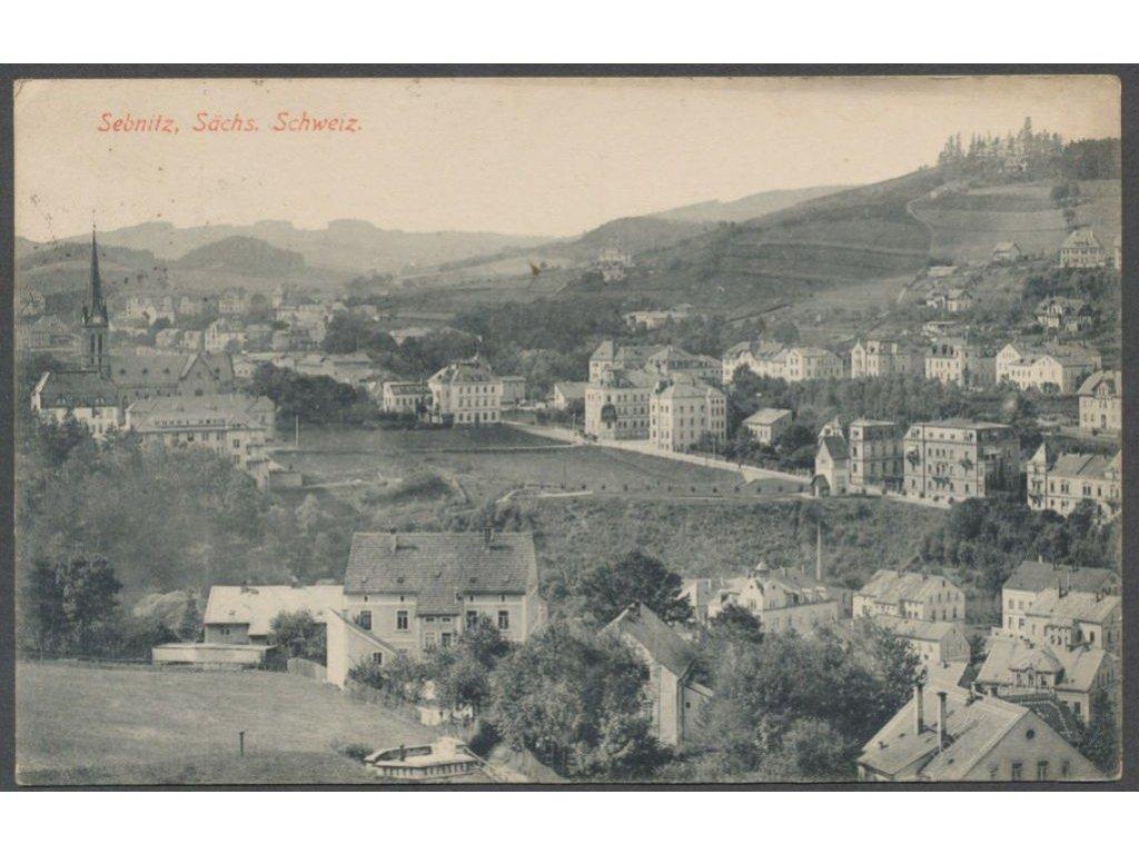 Germany, Sächsische Schweiz-Osterzgebirge, Sebnitz, overview, publ. Brück & Sohn, cca 1920