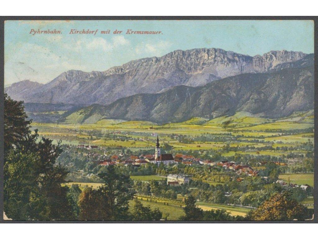 Austria, Kirchdorf with Kremsmauer and Klaus an der Pyhrnbahn, publ. Brandt, cca 1910