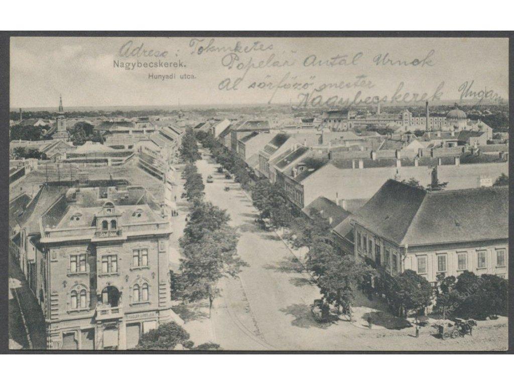 Serbia, Vojvodina, Zrenjanin, Hunyadi street, cca 1910