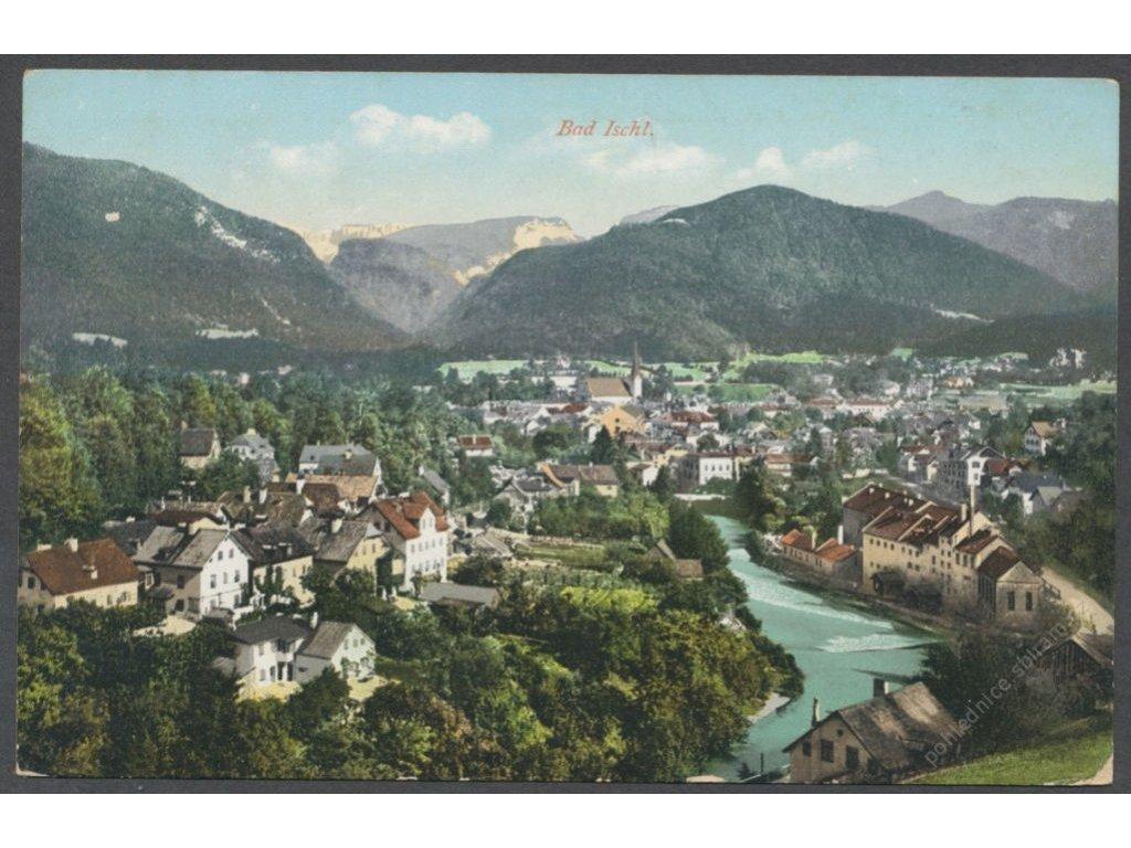 Austria, Salzkammergut, Bad Ischl, overview, publ. Brandt, cca 1910