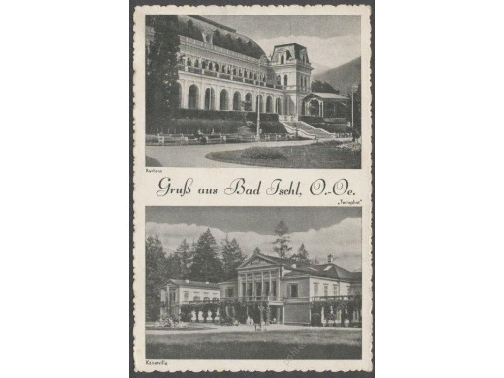 Austria, Salzkammergut, Bad Ischl, Kurhaus, Kaiservilla, nakl. Terraphot, cca 1940