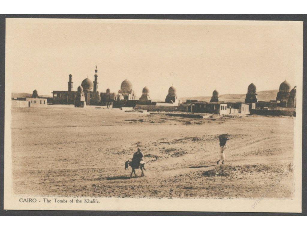 Egypt, Cairo, The Tombs of the Khalifs, cca 1915