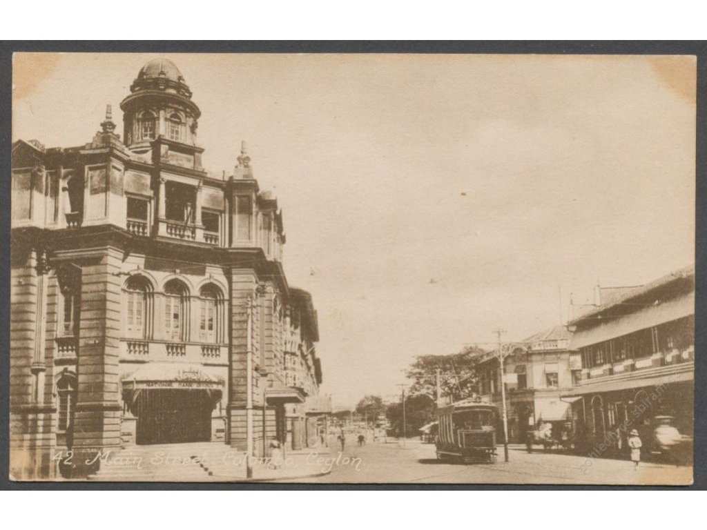 Sri Lanka, Colombo, Main street with tram, publ. John & Co., cca 1908