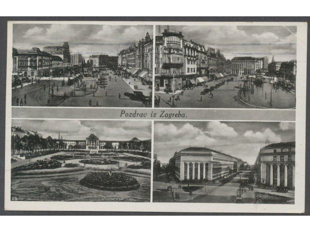 Croatia, Zagreb, parts of town, cca 1926