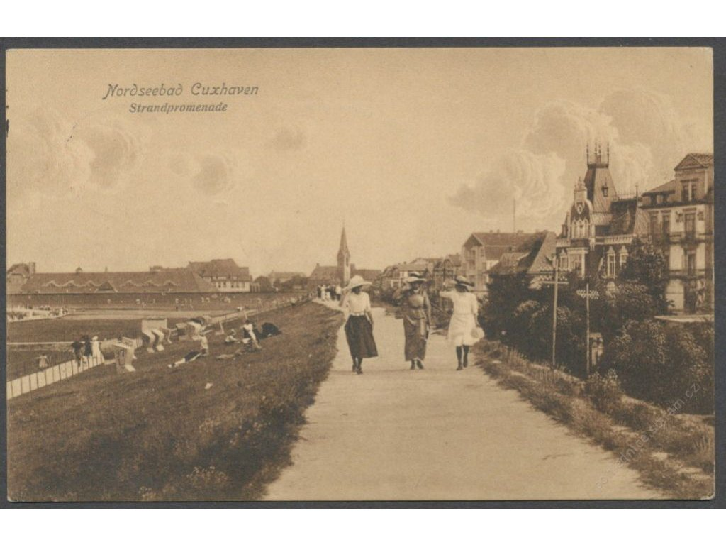 Germany, road between Nordseebad and Cuxhaven, publ. Simonsen, cca 1920