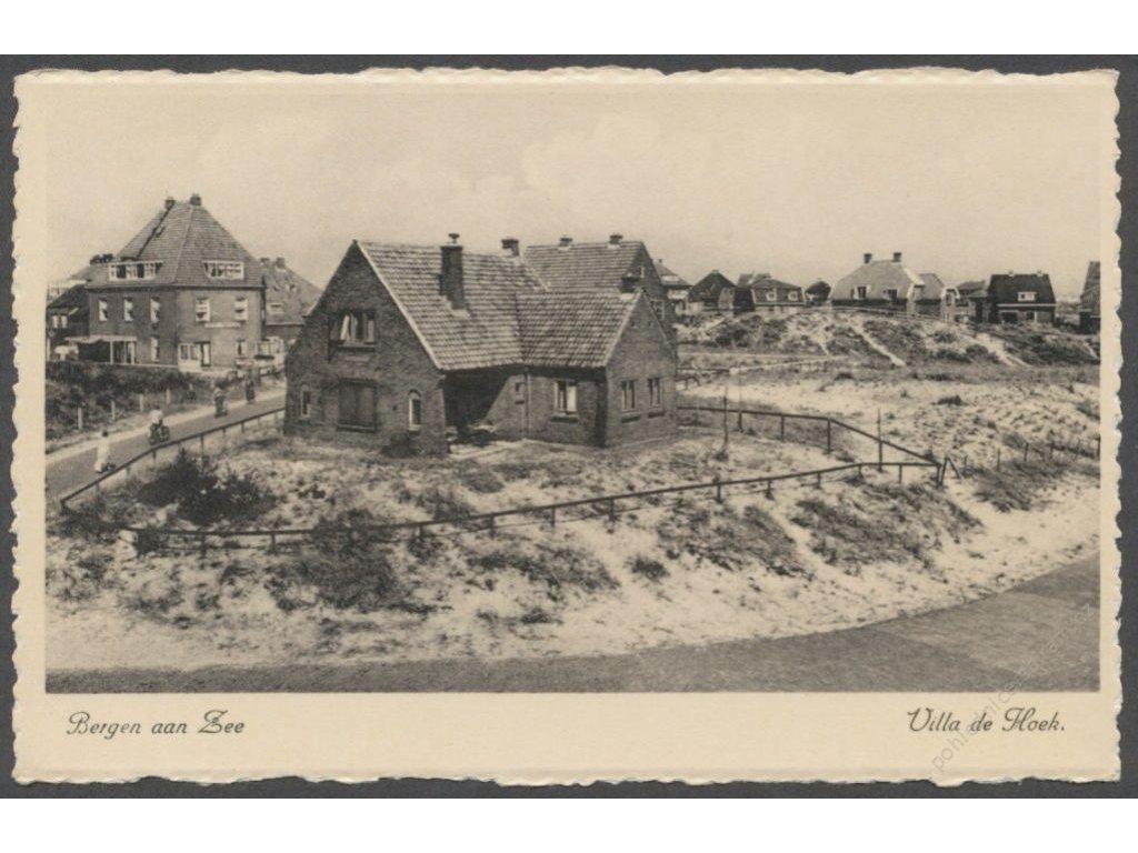 """Netherlands, Dutch, Bergen aan Zee, Hoek villa, publ. """"Rembrandt"""", cca 1930"""