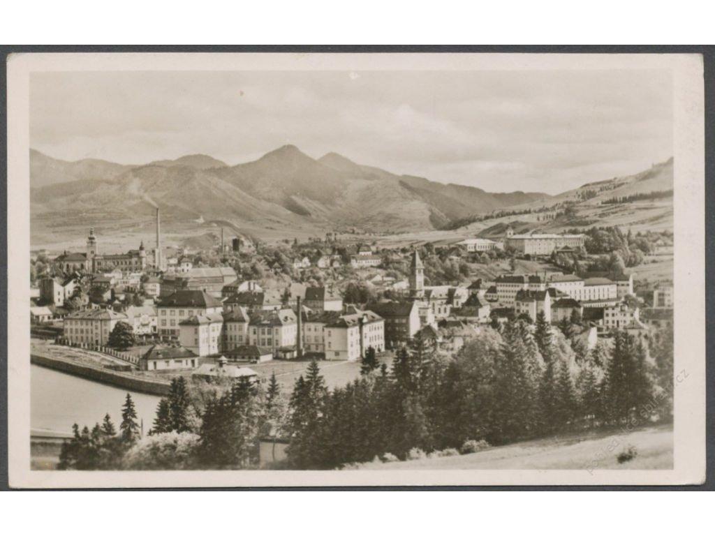 Slovensko, Ružomberok, celkový pohled, nakl. Medvecký, cca 1948