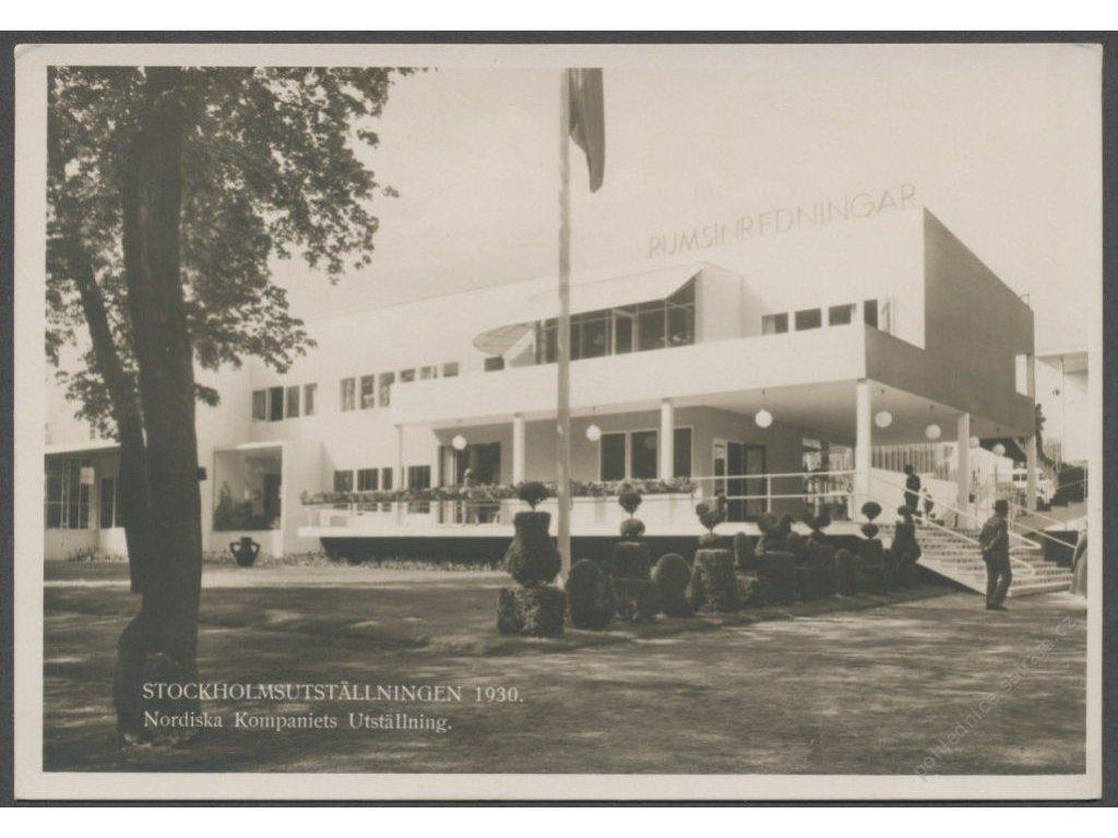 """Sweden, Stockholm, exhibition building """"Rumsinredningar"""", publ. Svanström and Co., cca 1930"""