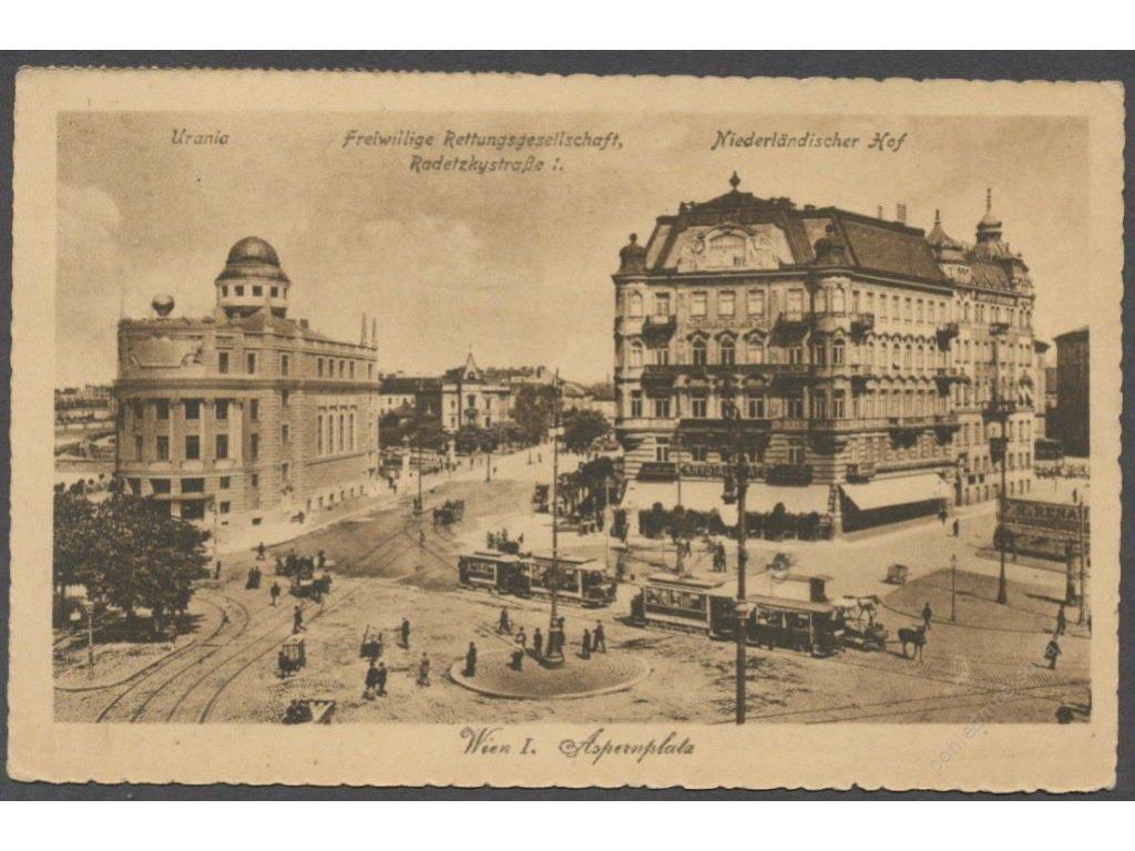 Austria, Vienna, Aspern square, publ. Ledermann, cca 1923