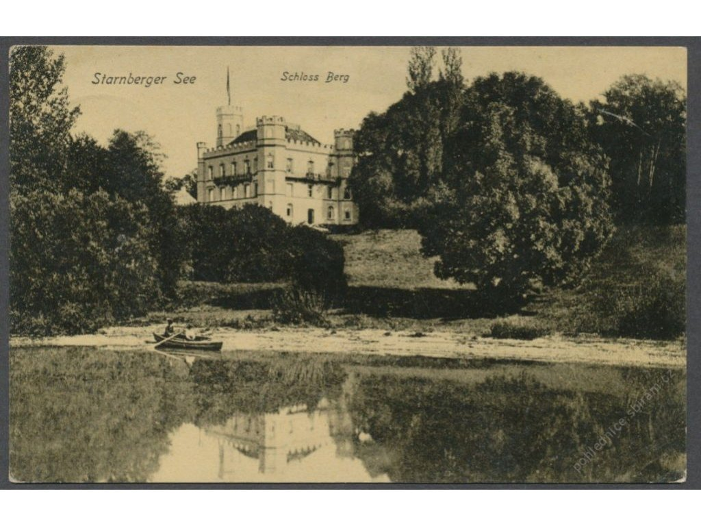 Germany, Bavaria, Lake Starnberg and Berg Castle, publ. Zieher, cca 1908