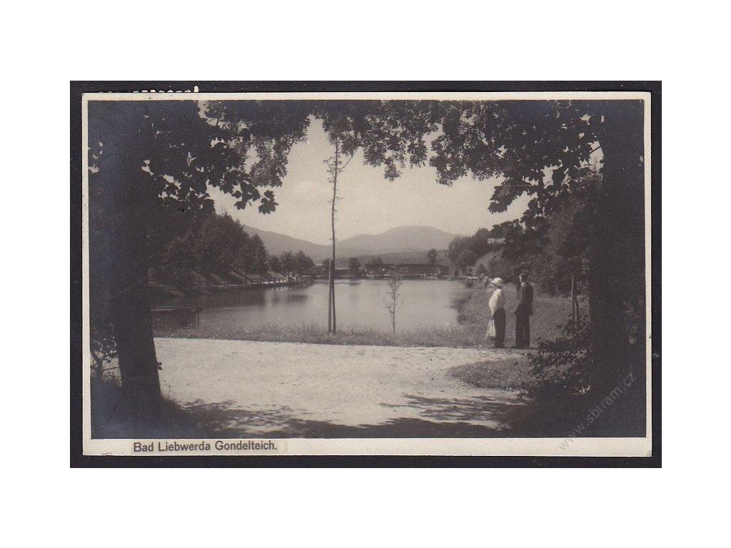 32 - Liberecko, Lázně Libverda (Bad-Liebwerda, Gondelteich.), cca 1930