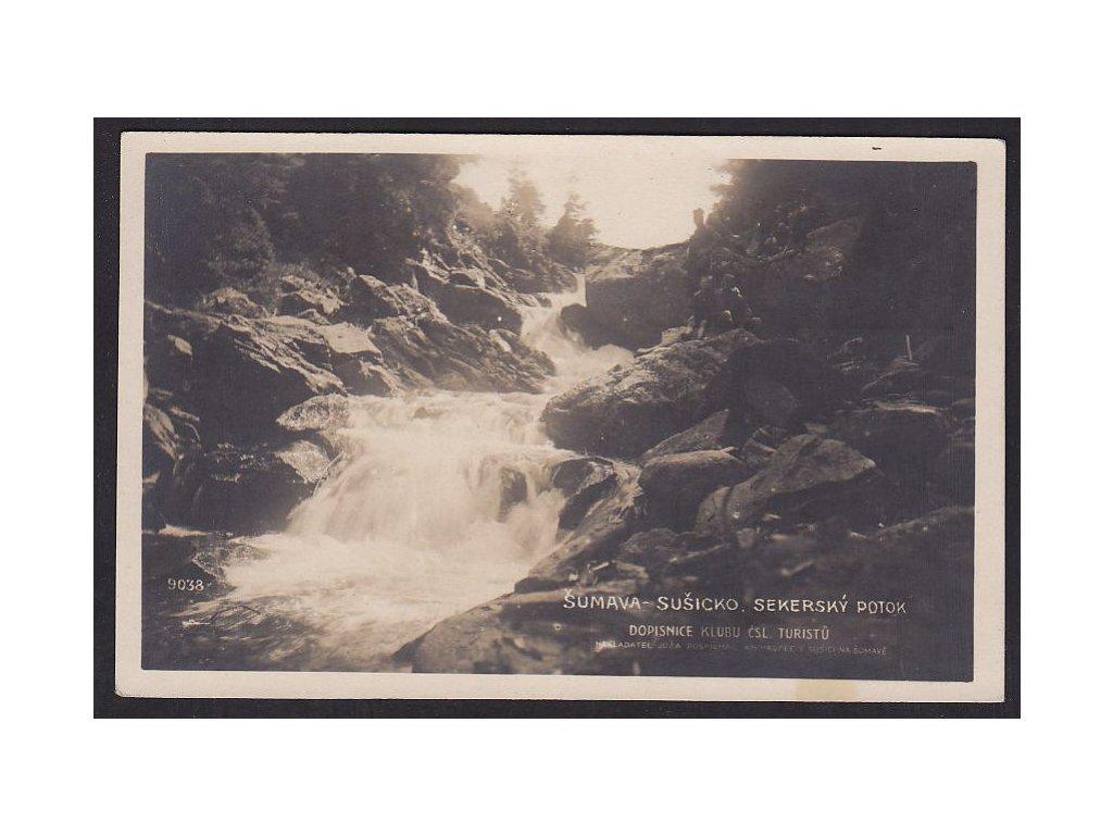 28- Šumava, Sekerský potok, FotoFon, nákl.Pospíchal, ca  1925