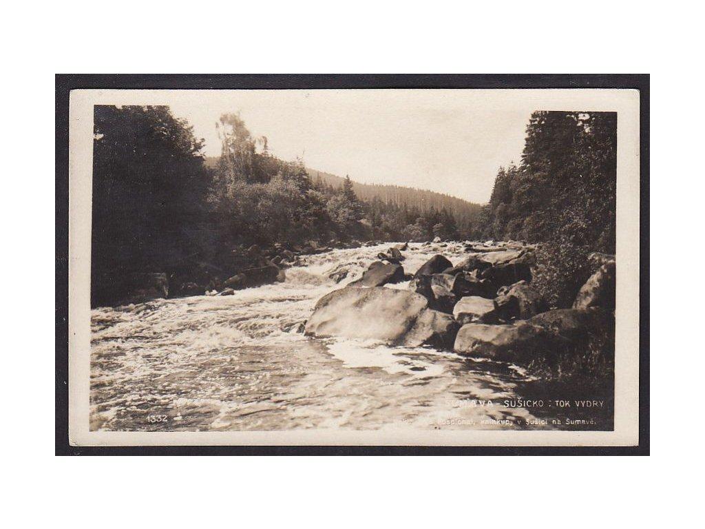 28- Šumava, tok Vydry, FotoFon, nákl.Pospíchal, ca  1930